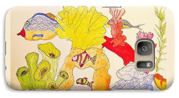 Galaxy Case featuring the painting The Age Of Aquarium by Rand Swift