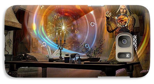 Galaxy Case featuring the digital art The Alchemist by Shadowlea Is