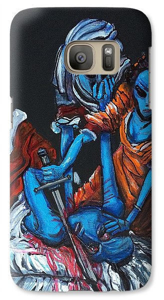 Galaxy Case featuring the painting The Alien Judith Beheading The Alien Holofernes by Similar Alien