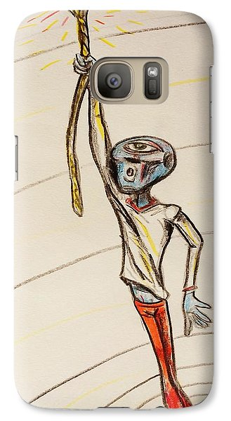 Galaxy Case featuring the drawing The Aliens Least Favorite Dream by Similar Alien