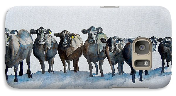 Galaxy Case featuring the painting The Angus Eight by Sharon Mick