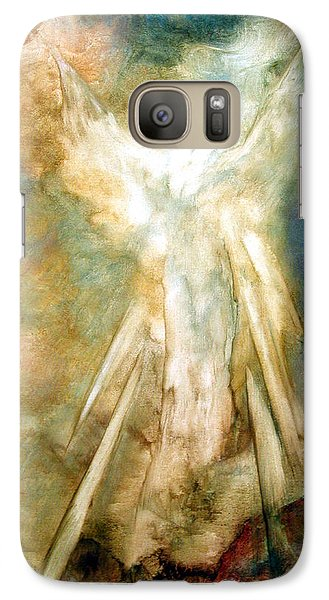 Galaxy Case featuring the painting The Appearance by Marina Petro
