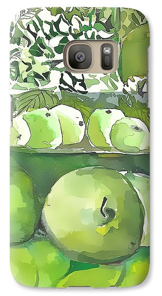 Galaxy Case featuring the painting The Apple Closet by Mindy Newman