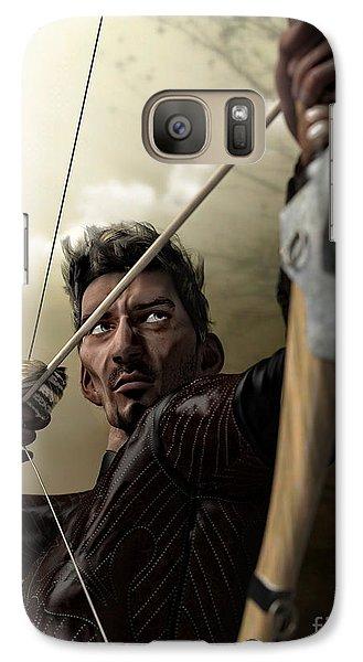 Galaxy Case featuring the digital art The Archer by Sandra Bauser Digital Art