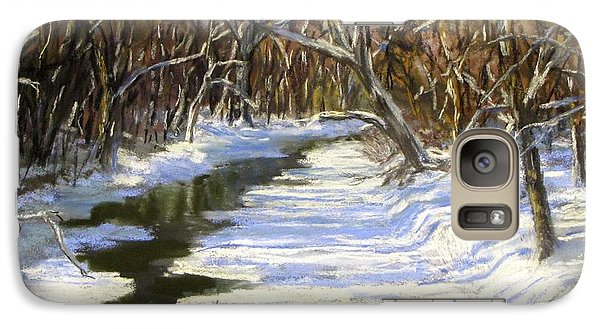 Galaxy Case featuring the painting The Assabet River In Winter by Jack Skinner