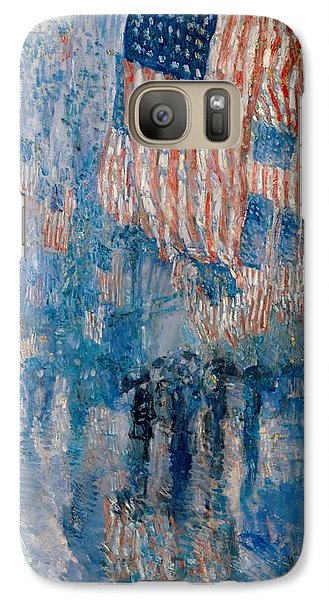 Galaxy Case featuring the painting The Avenue In The Rain - 1917 by Frederick Childe Hassam