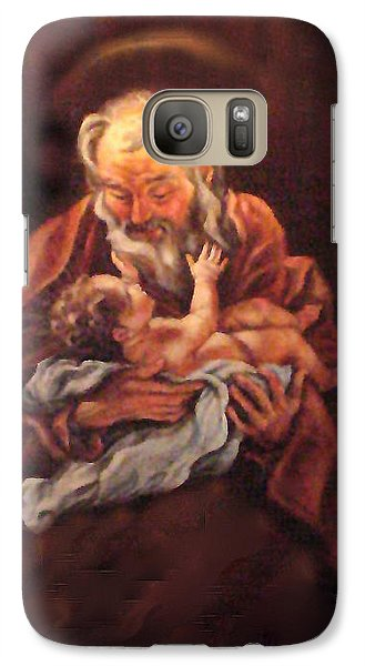 Galaxy Case featuring the painting The Baby Jesus - A Study by Donna Tucker