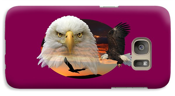 Galaxy Case featuring the photograph The Bald Eagle 2 by Shane Bechler