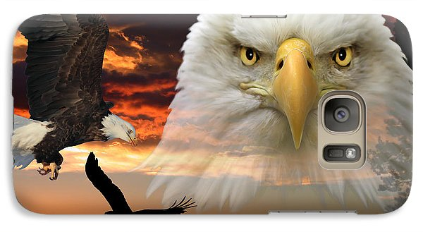 Galaxy Case featuring the photograph The Bald Eagle by Shane Bechler