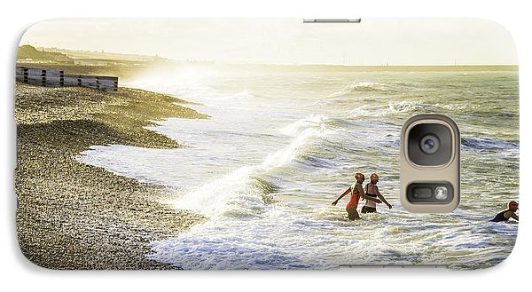 Galaxy Case featuring the photograph The Bathers by Russell Styles