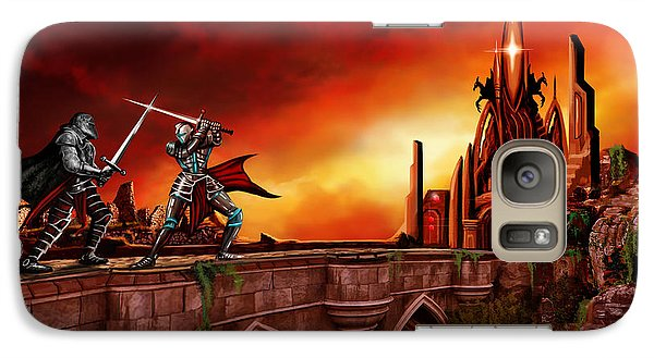 Galaxy Case featuring the painting The Battle For The Crystal Castle by James Christopher Hill