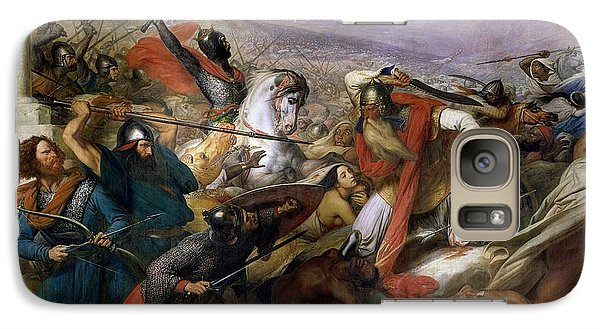 Religion Galaxy S7 Case - The Battle Of Poitiers by Charles Auguste Steuben
