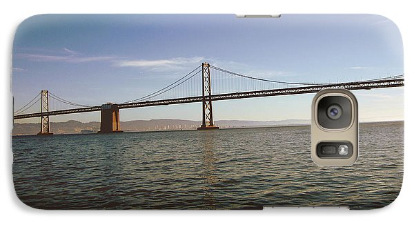 Galaxy Case featuring the mixed media The Bay Bridge- By Linda Woods by Linda Woods