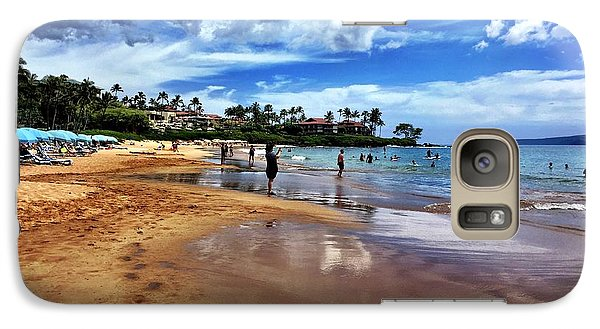 Galaxy Case featuring the photograph The Beach 2 by Michael Albright