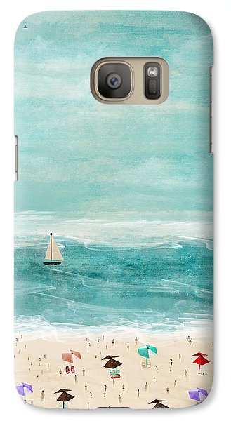 Galaxy Case featuring the painting The Beach by Bri B