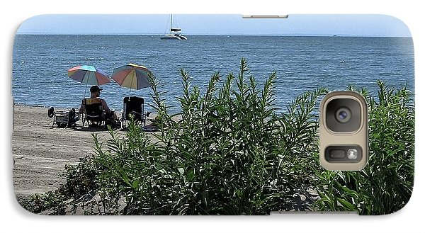 Galaxy Case featuring the photograph The Beach by John Scates