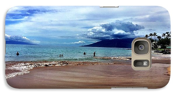Galaxy Case featuring the photograph The Beach by Michael Albright