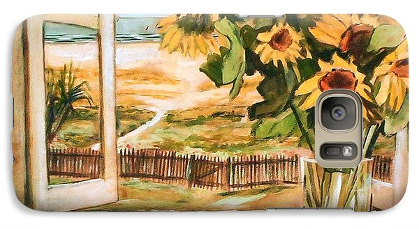 The Beach Sunflowers Galaxy S7 Case