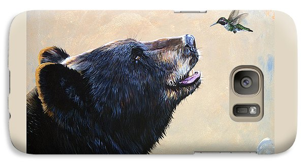 Bear Galaxy S7 Case - The Bear And The Hummingbird by J W Baker