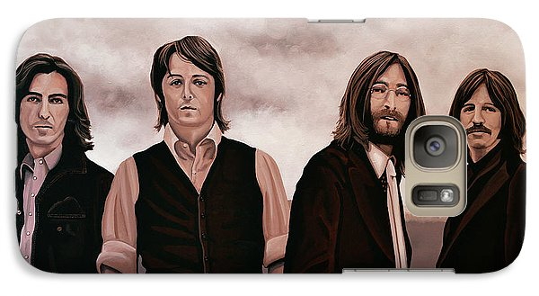 Rock And Roll Galaxy S7 Case - The Beatles 3 by Paul Meijering