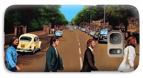 Realistic Galaxy S7 Case - The Beatles Abbey Road by Paul Meijering