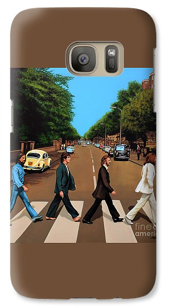 Music Galaxy S7 Case - The Beatles Abbey Road by Paul Meijering