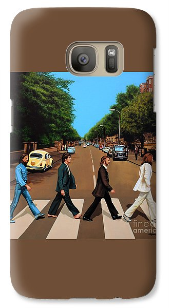 Rock And Roll Galaxy S7 Case - The Beatles Abbey Road by Paul Meijering