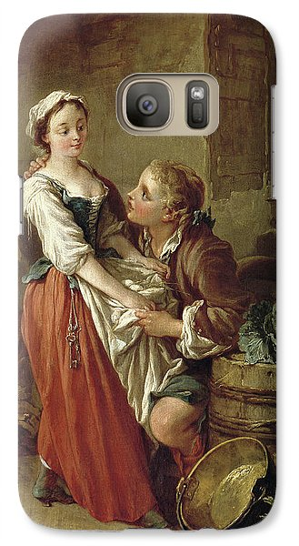 The Beautiful Kitchen Maid Galaxy Case by Francois Boucher