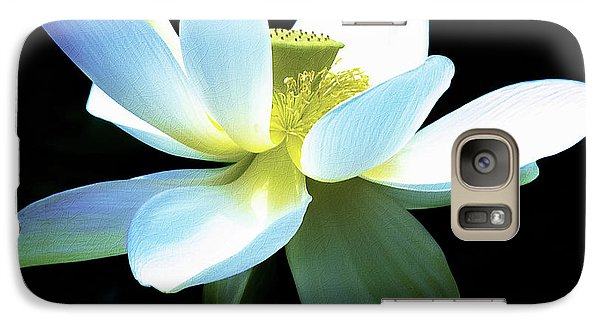 Galaxy Case featuring the photograph The Beauty Of A Lotus by Julie Palencia