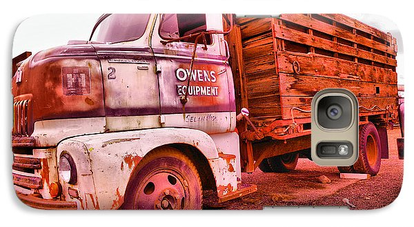 Galaxy Case featuring the photograph The Beauty Of An Old Truck by Jeff Swan