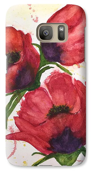 Galaxy Case featuring the painting The Beauty Of Three by Lucia Grilletto