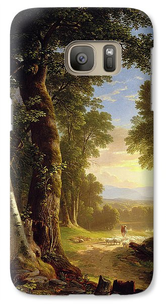 Galaxy Case featuring the painting The Beeches By Asher Brown Durand by Asher Brown Durand