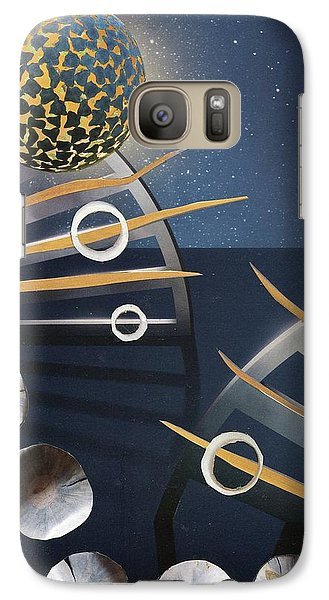 Galaxy Case featuring the painting The Big Bang by Michal Mitak Mahgerefteh