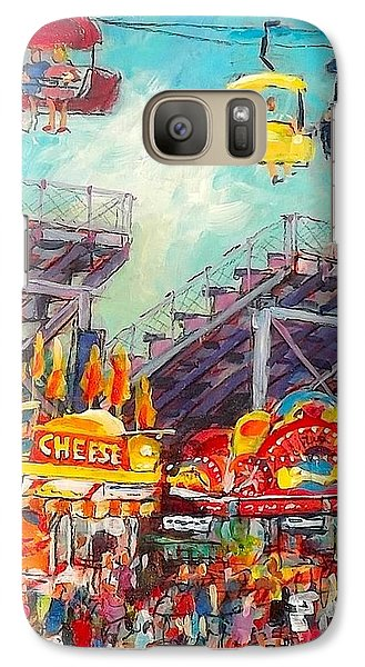 Galaxy Case featuring the painting The Big Cheese by Les Leffingwell