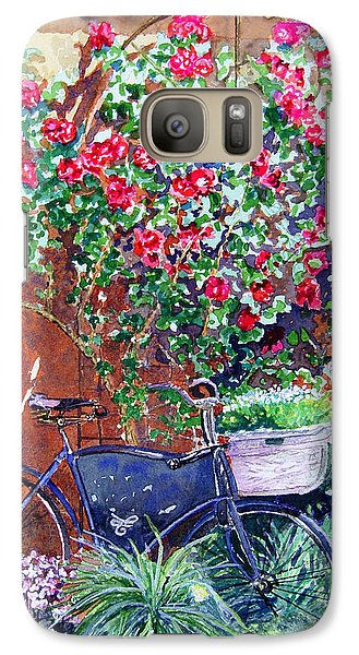 Galaxy Case featuring the painting The Bike At Bistro Jeanty Napa Valley by Gail Chandler