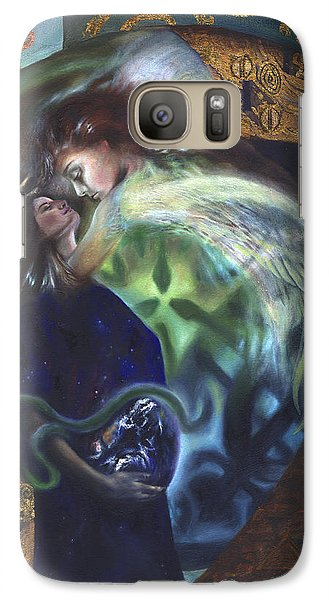 Galaxy Case featuring the painting The Birth Of The World by Ragen Mendenhall