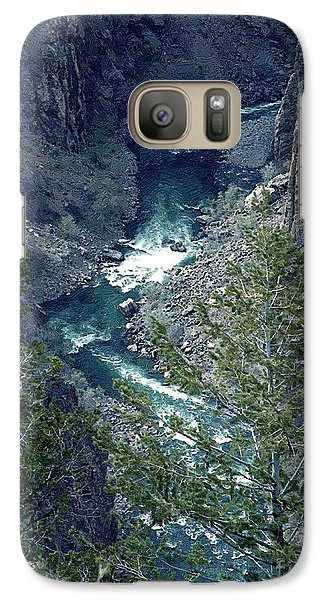Galaxy Case featuring the painting The Black Canyon Of The Gunnison by RC DeWinter