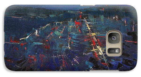Galaxy Case featuring the painting The Blue by Anastasija Kraineva