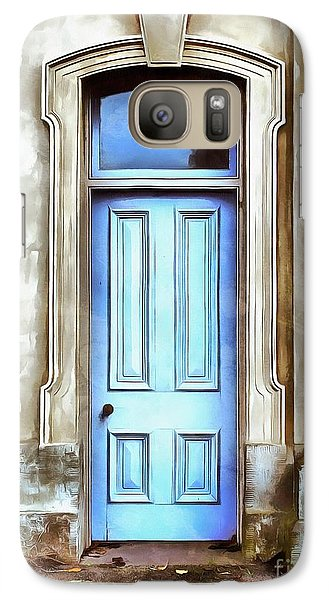 Galaxy Case featuring the painting The Blue Door by Edward Fielding