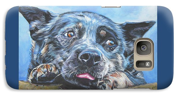 Galaxy Case featuring the painting The Blue Heeler by Lee Ann Shepard