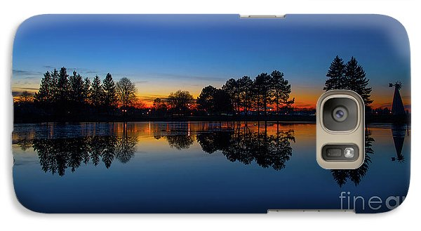Galaxy Case featuring the photograph The Blue Hour.. by Nina Stavlund