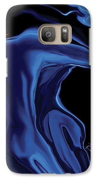 Galaxy Case featuring the digital art The Blue Kiss by Rabi Khan