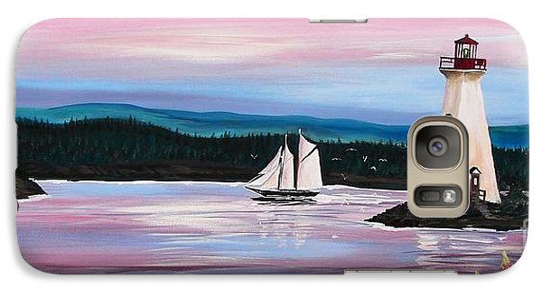 Galaxy Case featuring the painting The Blue Nose II At Baddeck Nova Scotia by Patricia L Davidson