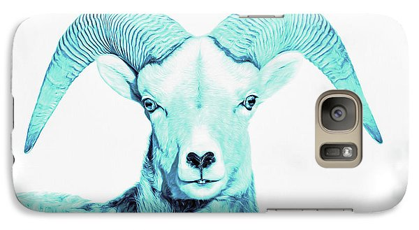Galaxy Case featuring the photograph The Blue Ram by Jennie Marie Schell