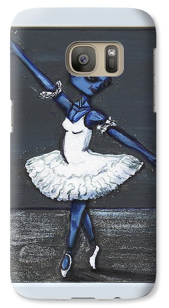 Galaxy Case featuring the painting The Blue Swan by Similar Alien