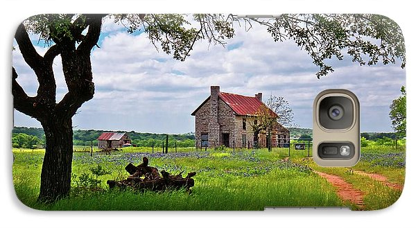 Galaxy Case featuring the photograph The Bluebonnet House by Linda Unger