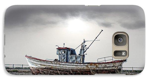 Galaxy Case featuring the photograph The Boat by Angel Jesus De la Fuente