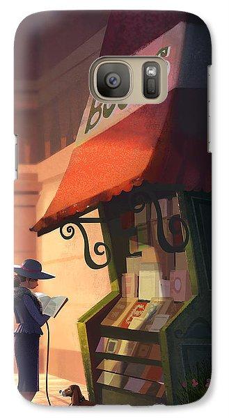 The Bookstore Galaxy Case by Kristina Vardazaryan