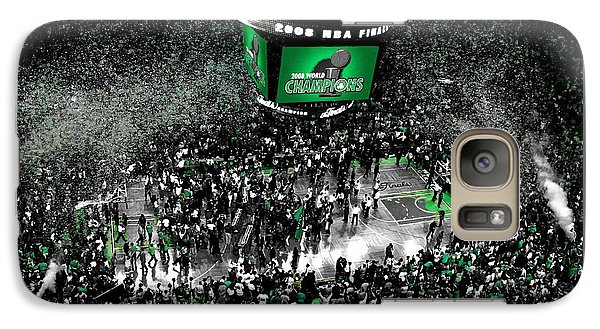 Magic Johnson Galaxy S7 Case - The Boston Celtics 2008 Nba Finals by Brian Reaves