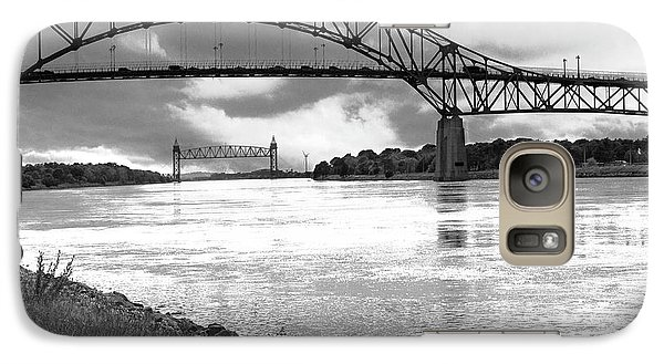 Galaxy Case featuring the photograph The Bourne And Railroad Bridges by Michelle Wiarda
